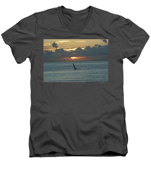 Men's V-Neck T-Shirt featuring the photograph Sunrise In The Florida Riviera by Rafael Salazar