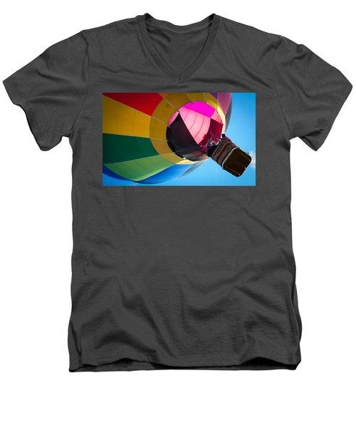 Men's V-Neck T-Shirt featuring the photograph Sunrise Launch by Patrice Zinck