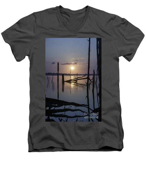 Sunrise Over Manasquan Reservoir Men's V-Neck T-Shirt