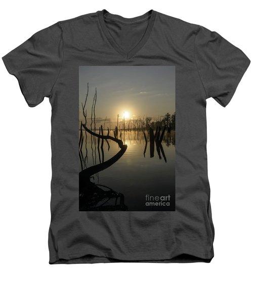 Sunrise Over Manasquan Reservoir II Men's V-Neck T-Shirt