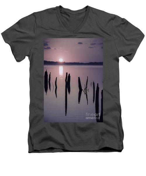 Sunrise Over Manasquan Reservoir Iv Men's V-Neck T-Shirt