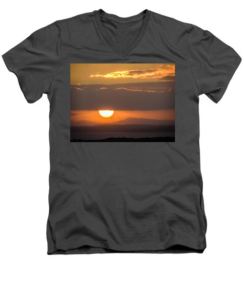 Sunrise Over River Shannon Men's V-Neck T-Shirt