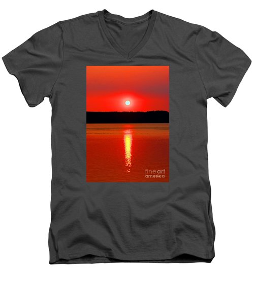Sunrise Over Whidbey Island Men's V-Neck T-Shirt
