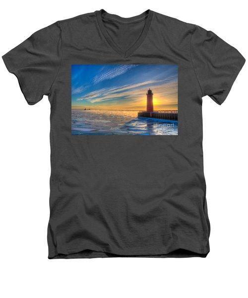 Sunrise Pierhead Men's V-Neck T-Shirt