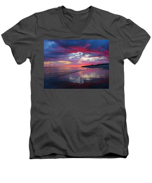 Sunrise Sizzle Men's V-Neck T-Shirt by Dianne Cowen