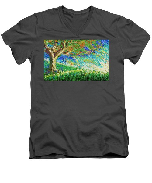 The War Of Wind And Sun Men's V-Neck T-Shirt