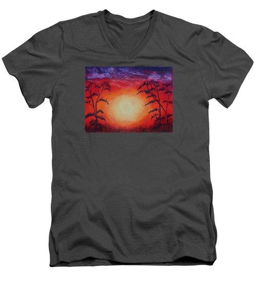 Sunset 1 Men's V-Neck T-Shirt by Jeanne Fischer