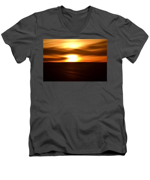 Sunset Abstract II Men's V-Neck T-Shirt