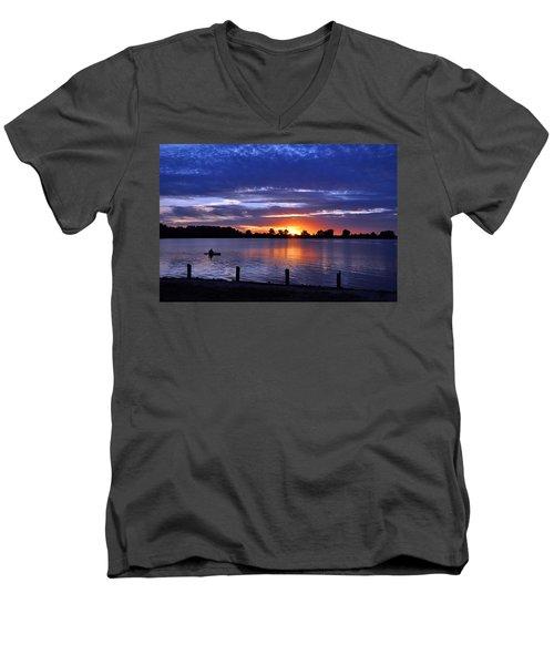 Sunset At Creve Coeur Park Men's V-Neck T-Shirt