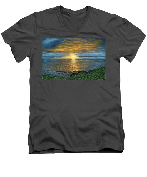 Sunset At Paradise Cove Men's V-Neck T-Shirt