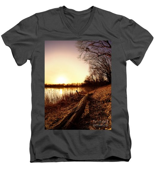 Sunset At The Lake Men's V-Neck T-Shirt
