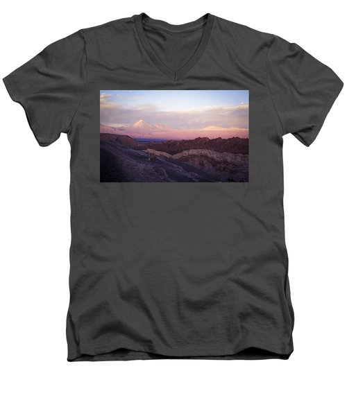 Sunset At The Valley Of The Moon Men's V-Neck T-Shirt by Lana Enderle