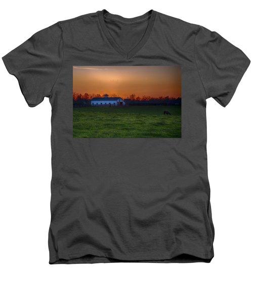 Walmac Farm Ky  Men's V-Neck T-Shirt