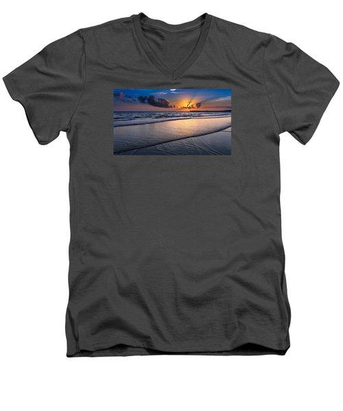 Sunset  Men's V-Neck T-Shirt by Hayato Matsumoto
