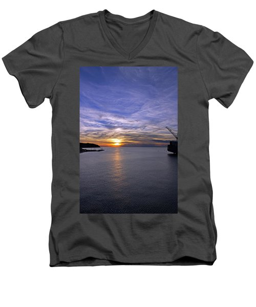 Sunset In Adriatic Men's V-Neck T-Shirt