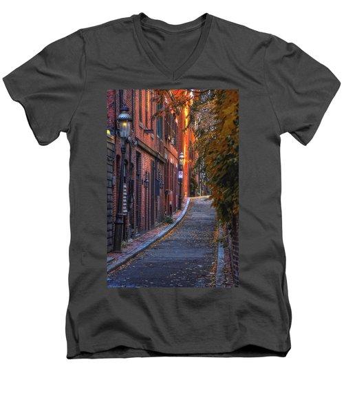 Sunset In Beacon Hill Men's V-Neck T-Shirt