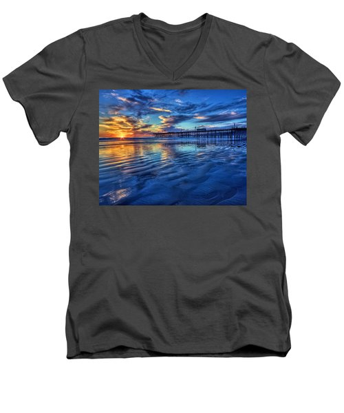 Sunset In Blue Men's V-Neck T-Shirt