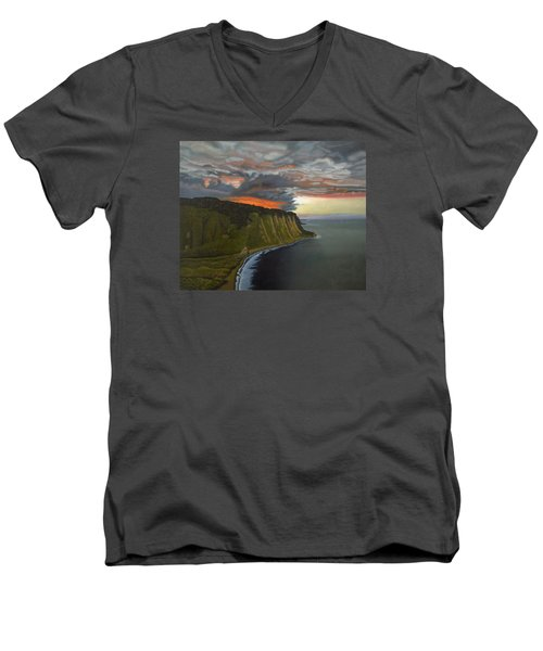 Sunset In Paradise Men's V-Neck T-Shirt by Thu Nguyen