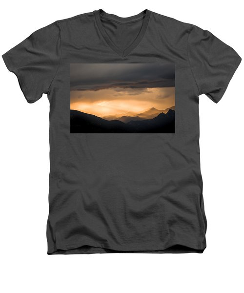 Sunset In The Mountains Men's V-Neck T-Shirt