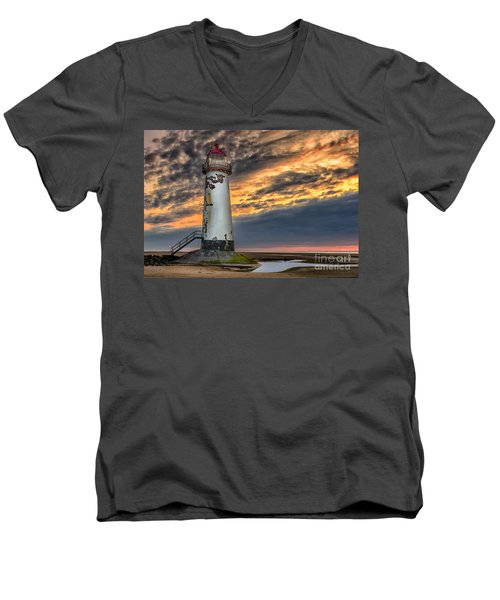 Sunset Lighthouse Men's V-Neck T-Shirt