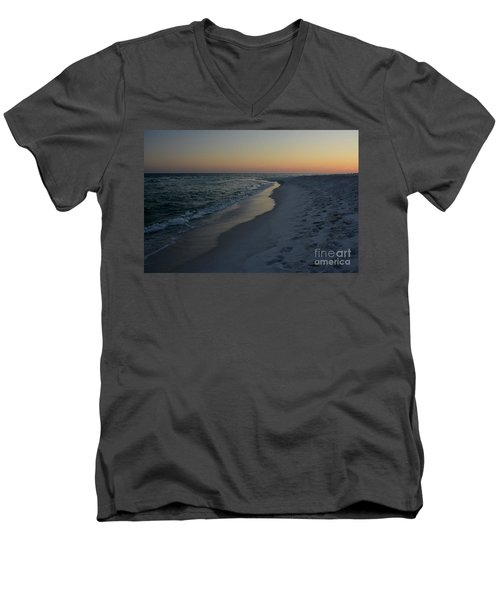 Sunset Navarre Beach Men's V-Neck T-Shirt by Janice Spivey