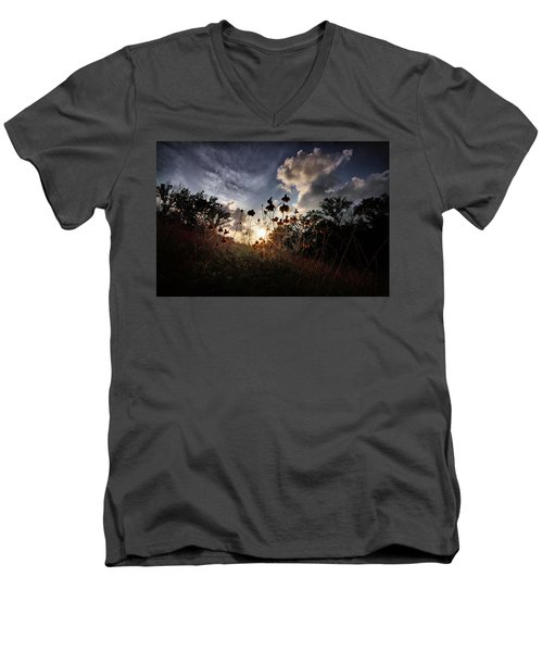 Sunset On Daisy Men's V-Neck T-Shirt