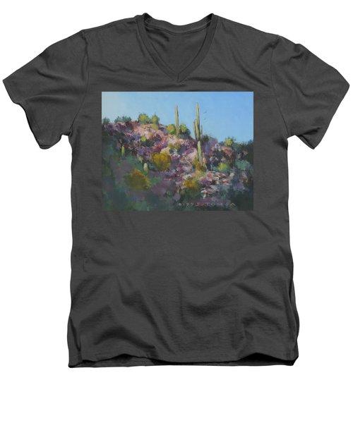 Sunset On Hawk Ridge Men's V-Neck T-Shirt