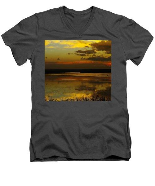 Sunset On Medicine Lake Men's V-Neck T-Shirt