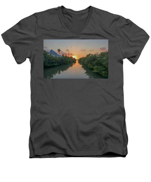 Sunset On Sarasota Bay Men's V-Neck T-Shirt