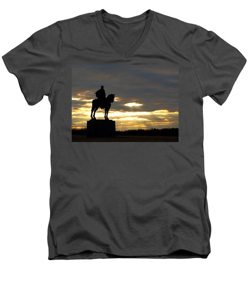 Sunset On The Battlefield Men's V-Neck T-Shirt