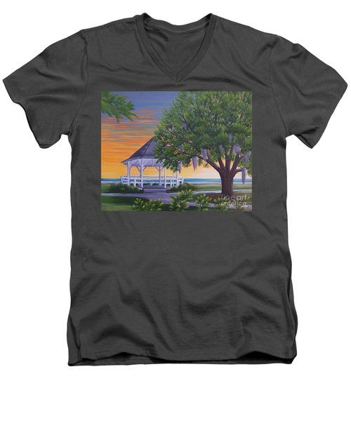 Sunset On The Gazeebo Men's V-Neck T-Shirt
