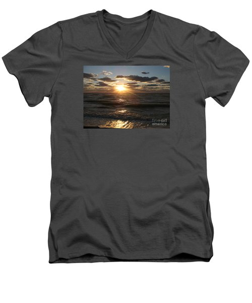 Sunset On Venice Beach  Men's V-Neck T-Shirt