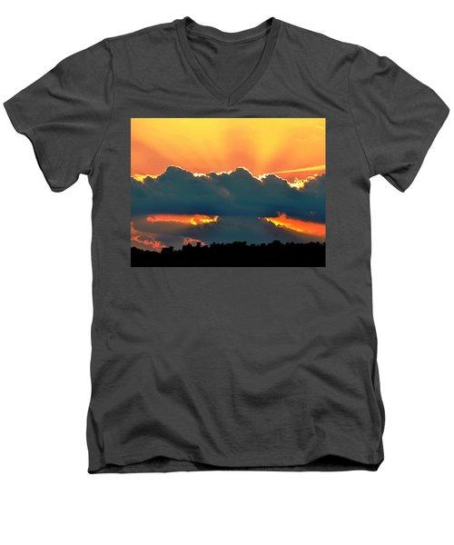 Sunset Over Southern Ohio Men's V-Neck T-Shirt