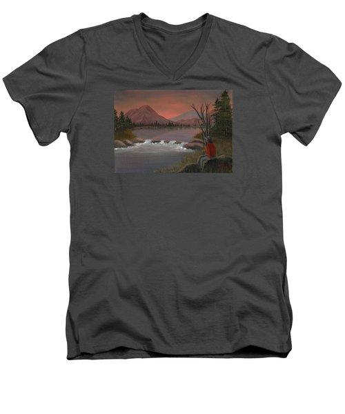 Sunset Serenade Men's V-Neck T-Shirt by Sheri Keith
