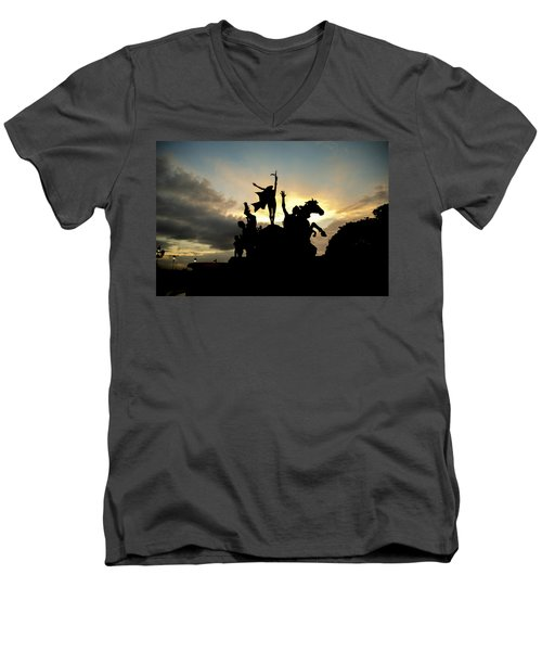 Sunset Silhouette Men's V-Neck T-Shirt