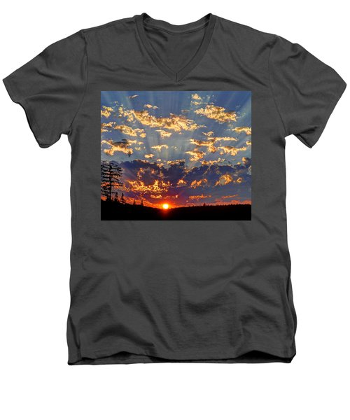 Sunset Spectacle Men's V-Neck T-Shirt by Peter Mooyman