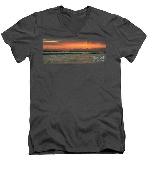 Men's V-Neck T-Shirt featuring the photograph Carlsbad Starburst by John F Tsumas