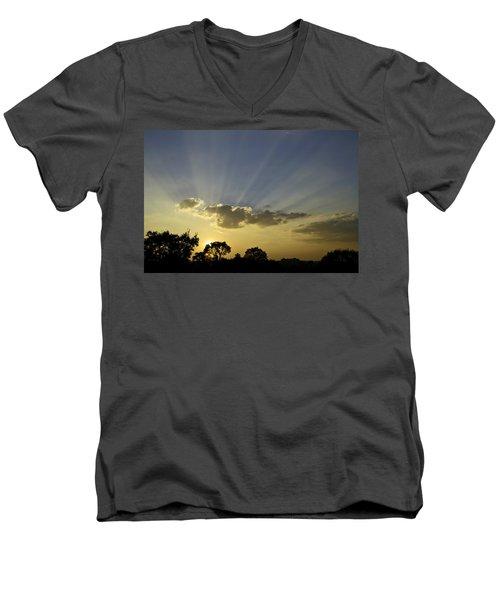 Sunset Sunrays Men's V-Neck T-Shirt