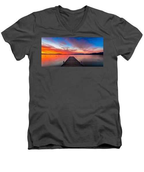 Sunset Walkway Men's V-Neck T-Shirt