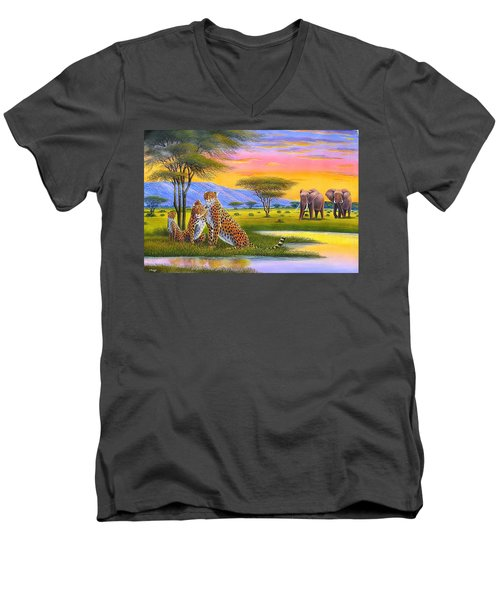 Sunset Watch Men's V-Neck T-Shirt