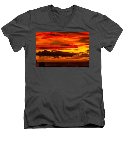 Sunset Wow2 Men's V-Neck T-Shirt