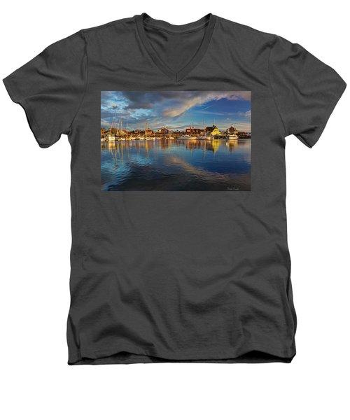 Sunset's Warm Glow Men's V-Neck T-Shirt