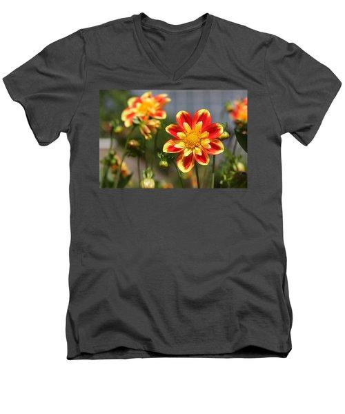 Sunshine Flower Men's V-Neck T-Shirt