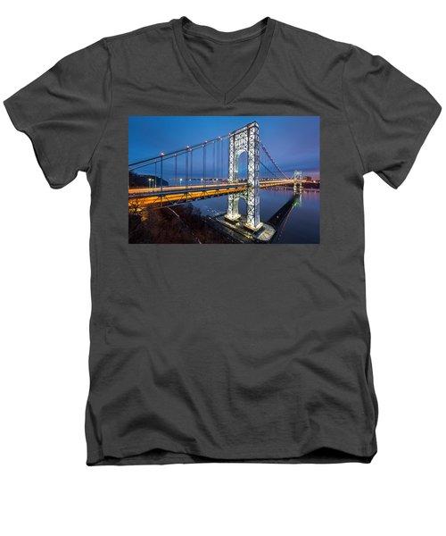 Super Bowl Gwb Men's V-Neck T-Shirt