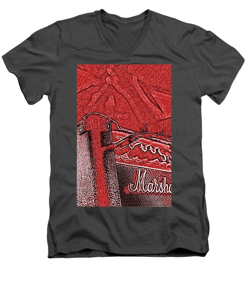 Super Grainy Marshall Men's V-Neck T-Shirt by Bartz Johnson