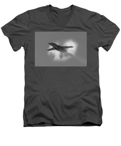 Super Hornet Shockwave Bw Men's V-Neck T-Shirt