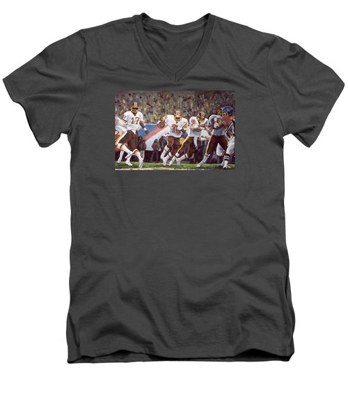 Superbowl Xii Men's V-Neck T-Shirt by Donna Tucker