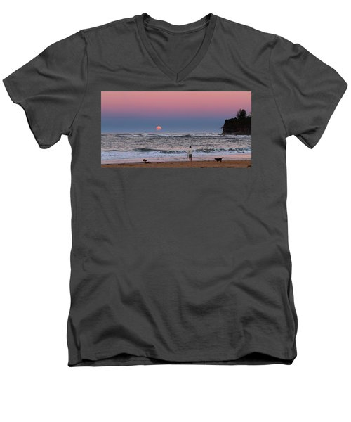 Supermoonrise Men's V-Neck T-Shirt