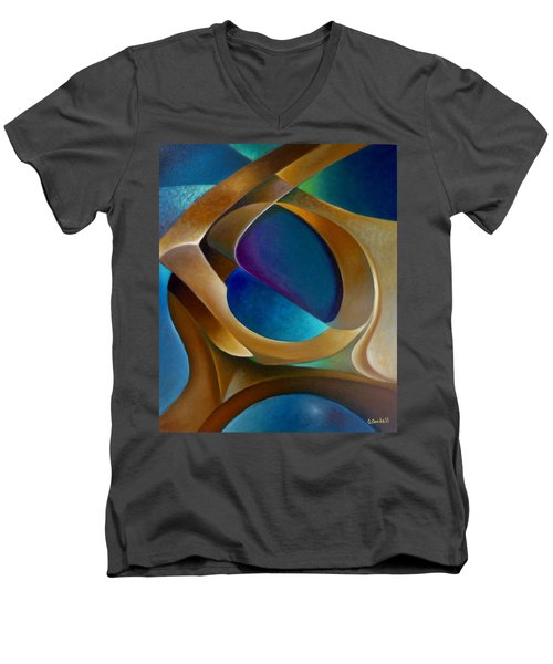 Support Men's V-Neck T-Shirt by Claudia Goodell