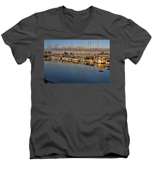 Men's V-Neck T-Shirt featuring the photograph Sur La Mer by Gary Holmes